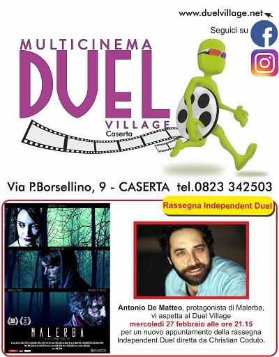locandina evento 4 DUEL VILLAGE, ANTONIO DE MATTEO PRESENTA MALERBA   OPERA PRIMA DI SIMONE CORALLINI