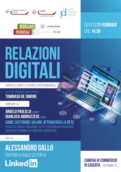 relazioni digitali L'IMPRESA, IL CLIENTE, IL TEAM NELLE PROFESSIONI DIGITALI