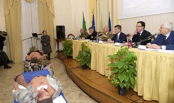 saluti istituzionali allapertura del convegno ESERCITO:CONFRONTO FRA ESPERIENZE CIVILI E MILITARI NELLE EMERGENZE