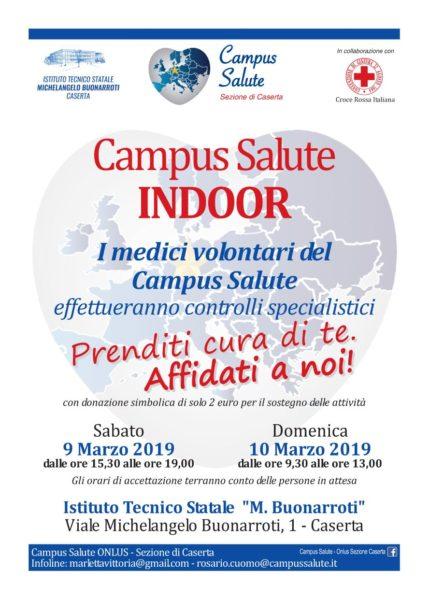 IMG 20190212 WA0004 CAMPUS SALUTE INDOOR TORNA AL TECNICO BUONARROTI DI CASERTA