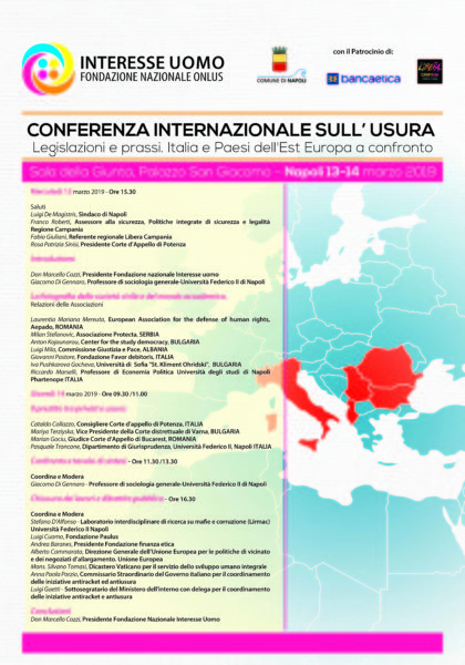 Interesse Uomo 70x100 IT NAPOLI, AL VIA LA CONFERENZA INTERNAZIONALE DELL'USURA