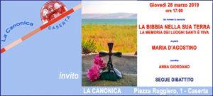 Invito 3 300x135 BIBBIA NELLA SUA TERRA INCONTRO CON MARIA DAGOSTINO