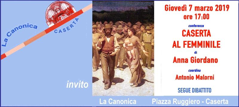 Invito GIODANO 7mar2019 ANNA GIORDANO ALLA CANONICA PER LA FESTA DELLA DONNA