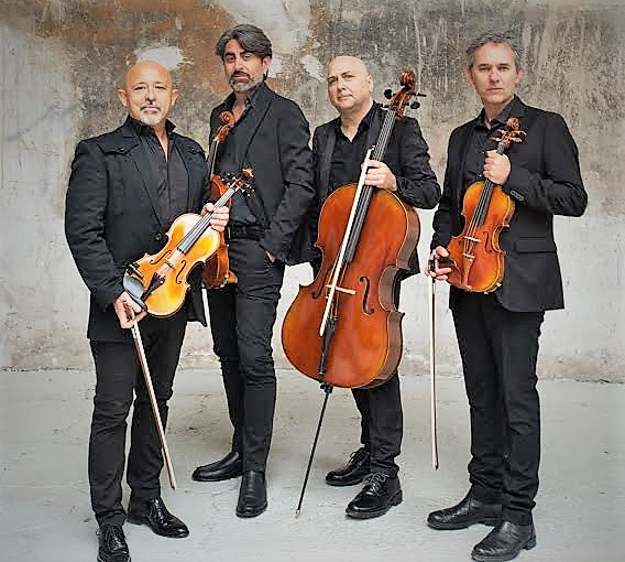"Solis String Quartet NOA ALL' ARENA FLEGREA CON ""LETTERS TO BACH FROM NAPOLI"""