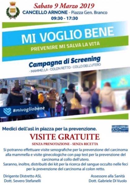 %name MI VOGLIO BENE, NUOVA CAMPAGNA DI SCREENING A CANCELLO ARNONE