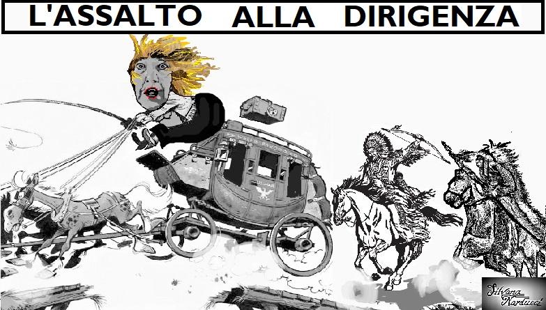 ASSALTO ALLA DIRIGENZA 19.04.19 OSPEDALE, FUGA ROCAMBOLESCA DI UN'INDOMITA DIRETTRICE…