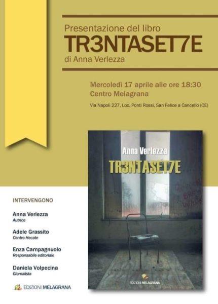Cover IN TR3NTASET7E, LA SCRITTRICE ANNA VERLEZZA PRESENTA IL SUO ULTIMO LIBRO DEDICATO ALLE DONNE