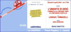 Invito TOMMASELLI 4apr2019 300x135 PROF. TOMASELLI A LA CANONICA CON LUMANITA DI GESU