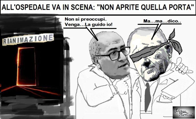 """NON APRITE QUELLA PORTA 09.04.19 OSPEDALE, """"TENETE DE LUCA LONTANO DALLA RIANIMAZIONE!"""""""