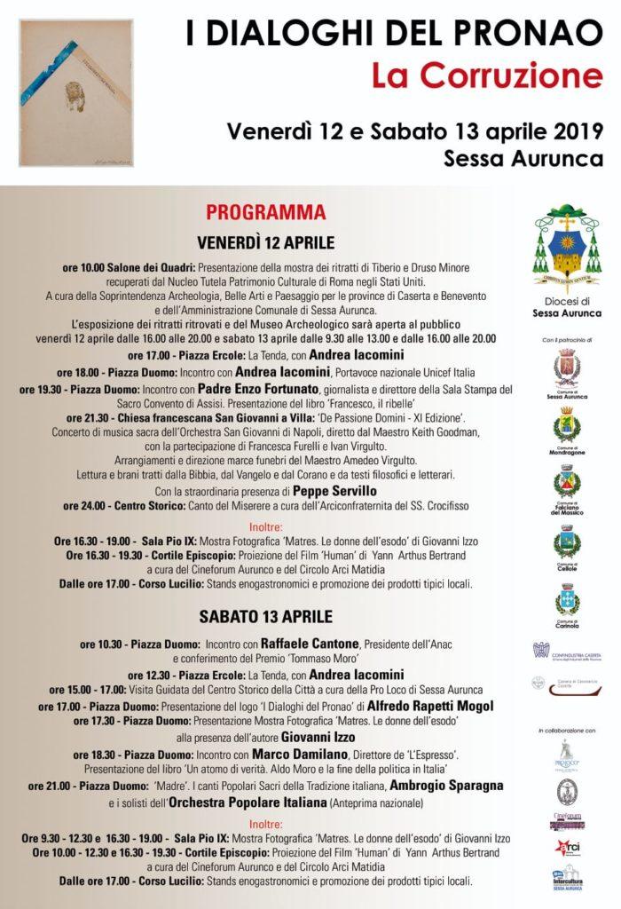%name SESSA AURUNCA, I DIALOGHI DEL PRONAO: PREMIO TOMMASO MORO A CANTONE