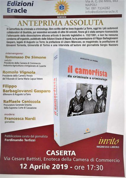 %name IL CAMORFISTA: ALLENOTECA PROVINCIALE LA PRESENTAZIONE DEL LIBRO DI AUGUSTO LA TORRE