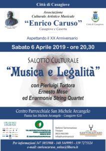 manifesto caruso musica e legalita 2019 212x300 MUSICA E LEGALITA AL SAN MICHELE ARCANGELO A CASAGIOVE