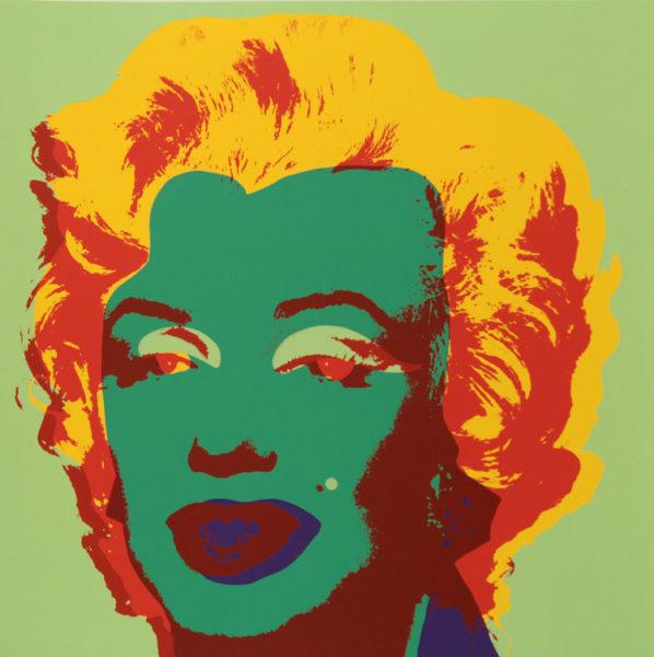 Andy Warhol Marilyn 11.25 serigrafia a colori su carta cm. 915 x 915 Edizione Sunday B Morning IL DIALOGO DEI CONTRAPPOSTI I PROTAGONISTI DEL '900 OGGI ALLA REGGIA DI CASERTA