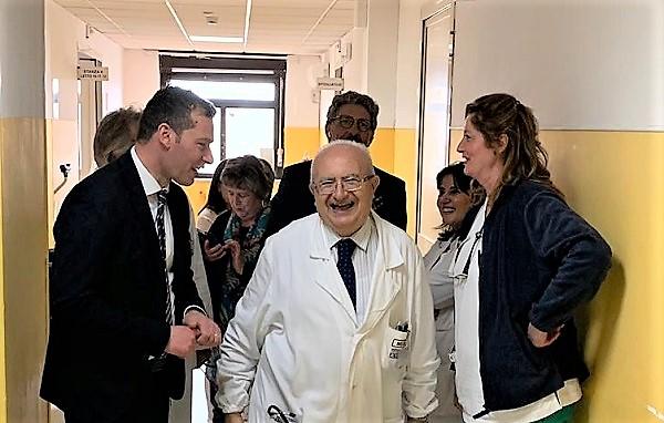 Ferrara agp SAN FELICE A CANCELLO: IL NEOELETTO GIOVANNI FERRARA IN VISITA ALLOSPEDALE AVE GRATIA PLENA