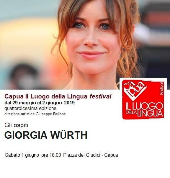 Giorgia Wurth AL VIA CAPUA IL LUOGO DELLA LINGUA FESTIVAL: AL REGISTA SAVERIO COSTANZO IL PLACITO CAPUANO