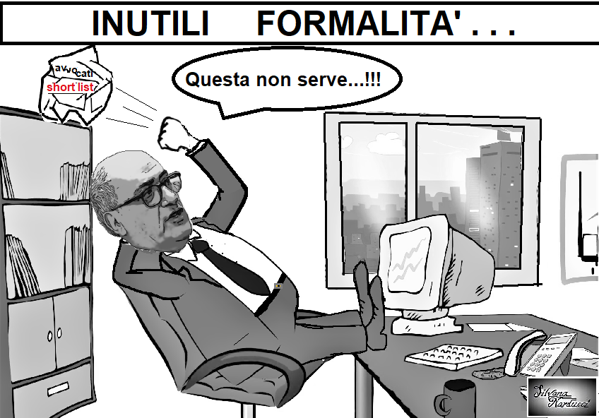 INUTILI FORMALITA 27.05.19 OSPEDALE, SERVE LA SHORT LIST?, LA SHORT LIST NON SERVE...
