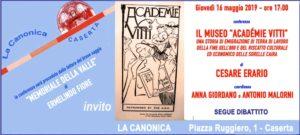 Invito ERARIO 16mag2019 300x135 CESARE ERARIO PRESSO LA CANONICA
