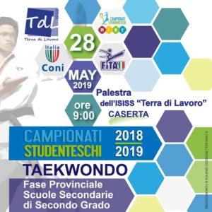 Locandina Evento 2 300x300 A CASERTA IL PRIMO CAMPIONATO STUDENTESCO DI TAEKWONDO