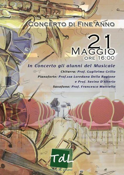 Locandina evento fine anno ISTITUTO TERRA DI LAVORO, LICEO MUSICALE: DOMANI IL CONCERTO DI FINE ANNO