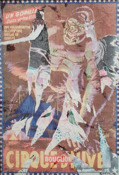 Mimmo Rotella Decollage unico su tela cm. 70 X 100 anni 2000 IL DIALOGO DEI CONTRAPPOSTI I PROTAGONISTI DEL '900 OGGI ALLA REGGIA DI CASERTA