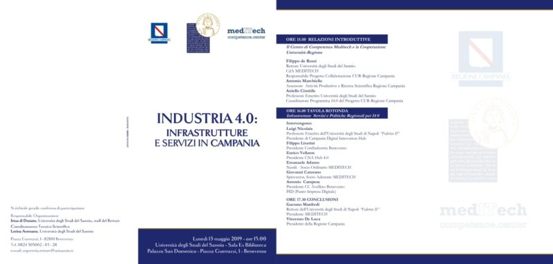 %name ALLUNIVERSITÀ DEL SANNIO INDUSTRIA 4.0: INFRASTRUTTURE E SERVIZI IN CAMPANIA