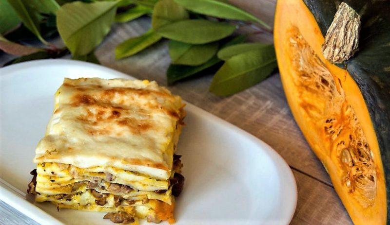 lasagne zucca funghi LASAGNA ZUCCA E FUNGHI