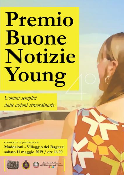 locandina Premio Buone Notizie Young PREMIO BUONE NOTIZIE YOUNG, SABATO AL VILLAGGIO DEI RAGAZZI LE MIGLIORI PRODUZIONI VIDEO DI SCUOLE ED UNIVERSITÀ ITALIANE