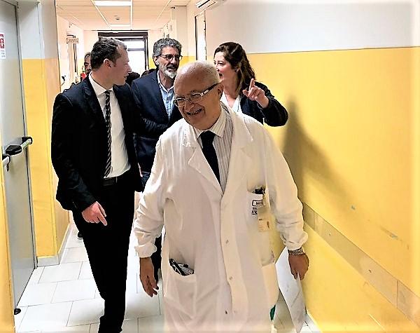 ospedale 1 1 SAN FELICE A CANCELLO: IL NEOELETTO GIOVANNI FERRARA IN VISITA ALLOSPEDALE AVE GRATIA PLENA