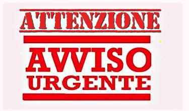 AVVISO URGENTE AVVISO URGENTE DEL COMUNE: CHIUSURA VARIANTE ANAS
