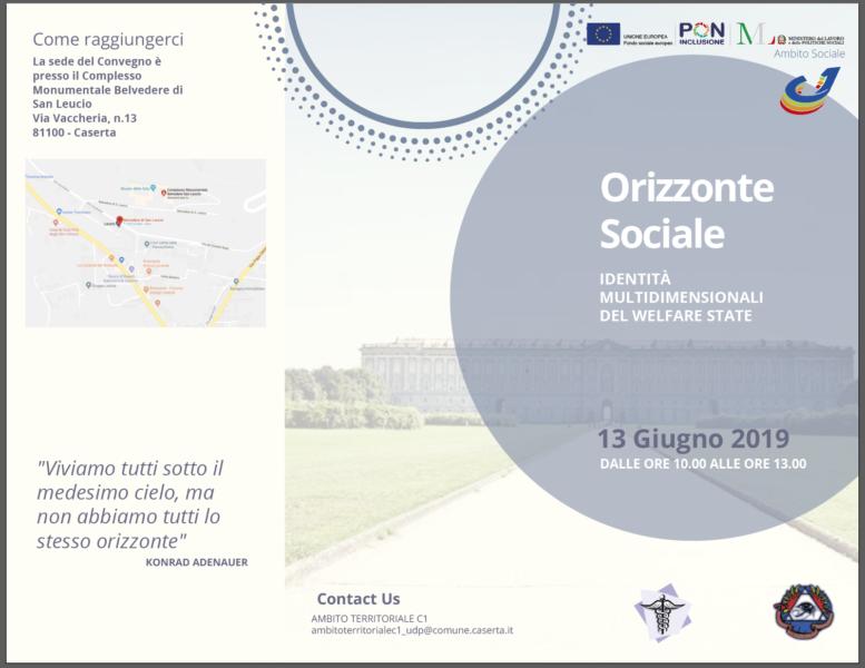 Brochure esterno 1 ORIZZONTE SOCIALE: IDENTITÀ MULTIDIMENSIONALI DEL WELFARE STATE: DOMANI CONVEGNO AL BELVEDERE
