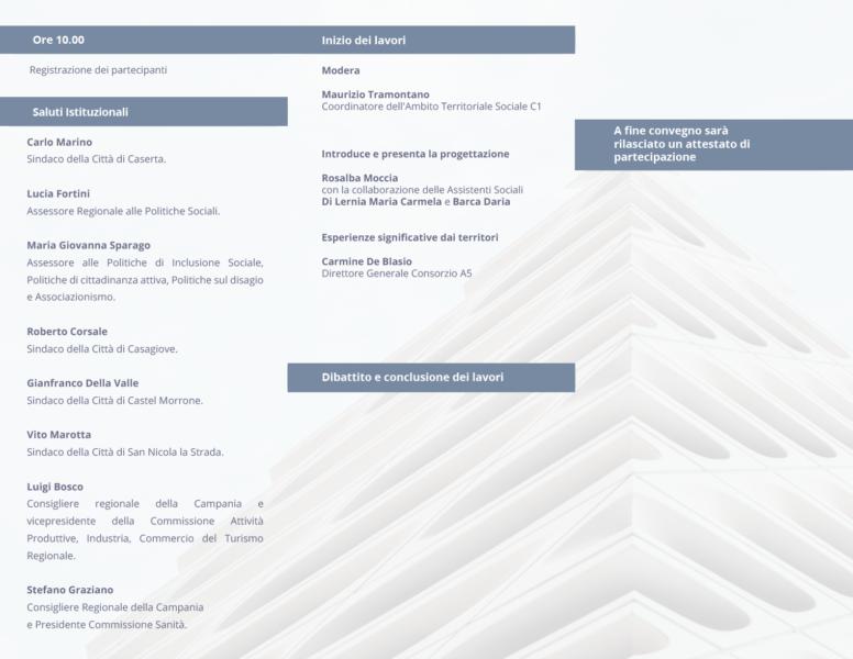 Brochure interno 1 ORIZZONTE SOCIALE: IDENTITÀ MULTIDIMENSIONALI DEL WELFARE STATE: DOMANI CONVEGNO AL BELVEDERE
