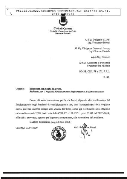 CGIL CISL UIL x Sicurezza   condizionatori 3 SISTEMA DI CLIMATIZZAZIONE AL COMUNE, INTERVENGONO I SINDACATI