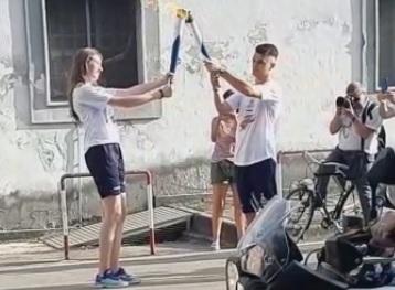 FIACCOLA LA FIAMMA OLIMPICA A CASERTA