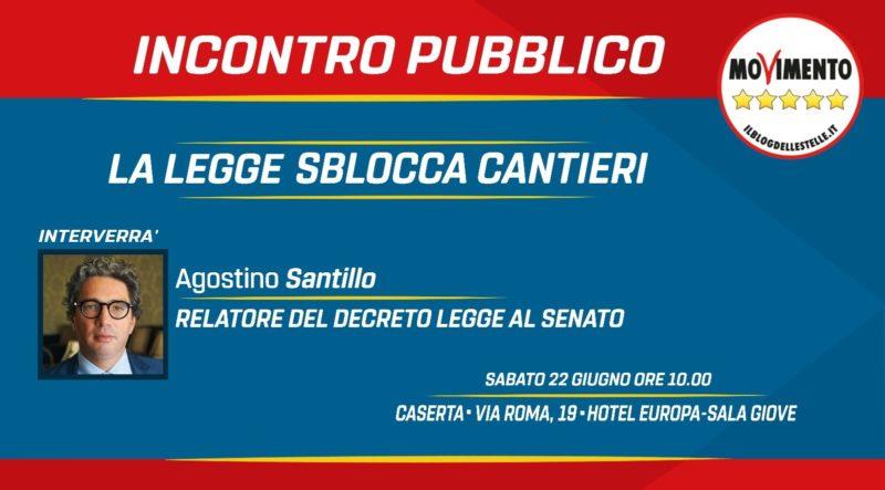 PHOTO 2019 06 18 11 48 04 DECRETO SBOCCA CANTIERI: SANTILLO (M5S) SPIEGA I CONTENUTI DELLA NUOVA LEGGE