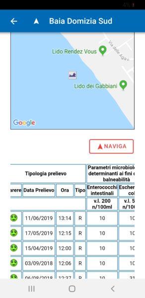 Screenshot 20190613 174056 ARPAC Balneazione 1 SINDACO COMPASSO, LITORALE SANO:  SALUTE E BALNEABILITÀ AL CENTRO DELLAZIONE AMMINISTRATIVA