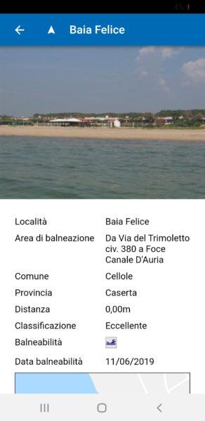 Screenshot 20190613 174112 ARPAC Balneazione 2 SINDACO COMPASSO, LITORALE SANO:  SALUTE E BALNEABILITÀ AL CENTRO DELLAZIONE AMMINISTRATIVA