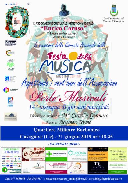 """trwetertwee FESTA EUROPEA DELLA MUSICA, LASSOCIAZIONE """"ENRICO CARUSO"""" PRESENTA PERLE MUSICALI"""