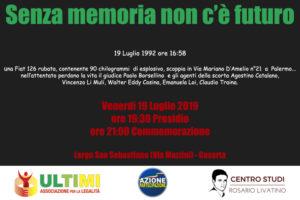 19 Luglio 2019 300x200 A CASERTA UNA COMMEMORAZIONE DELLA STRAGE DI VIA DAMELIO