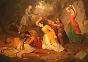 Hannah Duston Kills Her Indian Captors 300x211 HANNAH, LA STERMINATRICE DI INDIANI