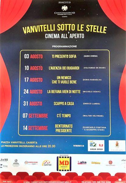%name VANVITELLI SOTTO LE STELLE: DAL 3 AGOSTO IL CINEMA GRATUITO ALLAPERTO IN PIAZZA VANVITELLI