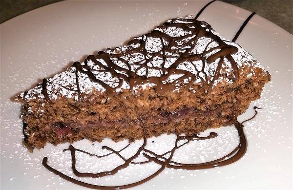 torta cioccolato TORTA COCCO E CIOCCOLATO CON MARMELLATA DI RIBES ROSSO