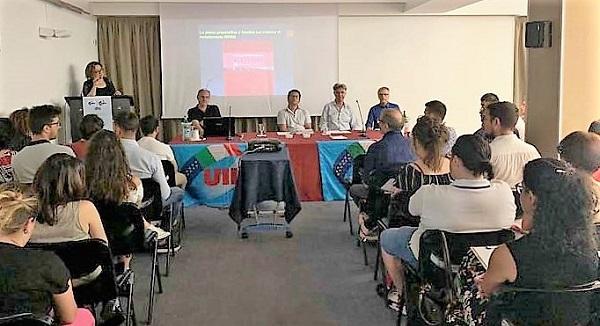 uil seminario UIL FPL E UILPA, SALA PIENA AL CORSO PER LE SELEZIONI IN REGIONE