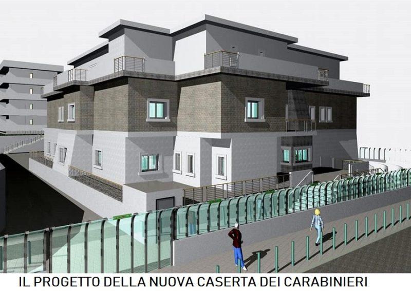 CASAGIOVE  progetto nuova caserta carabinieri NUOVA CASERMA DEI CARABINIERI IN PIAZZA DEGLI EROI: PARTE LITER
