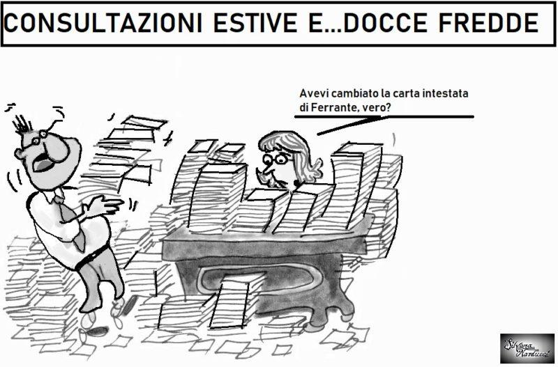 DOCCE FREDDE 20.08.19 OSPEDALE, CONSULTAZIONI DI MERCATO SULLA CARTA INTESTATA DI FERRANTE
