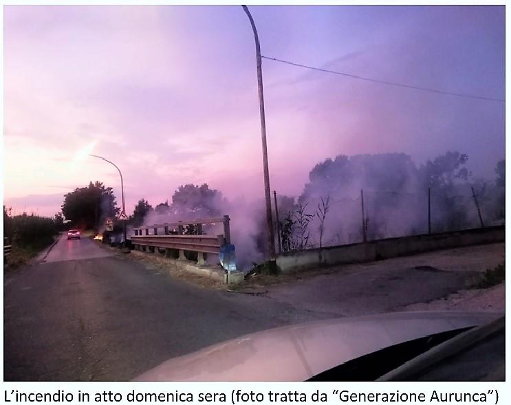 incendio 1 SESSA AURUNCA: PERICOLOSO INCENDIO NELLA FRAZIONE PIEDIMONTE