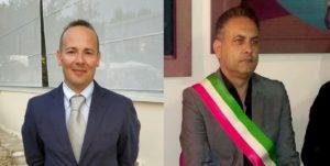 Il segretario cittadino Munno a sinistra ed il sindaco Cioffi a destra 300x151 MACERATA CAMPANIA, MUNNO CHIEDE CONGRESSO CITTADINO PD