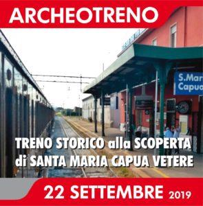 Locandina Archeotreno 295x300 ARRIVA LARCHEOTRENO A SANTA MARIA CAPUA VETERE