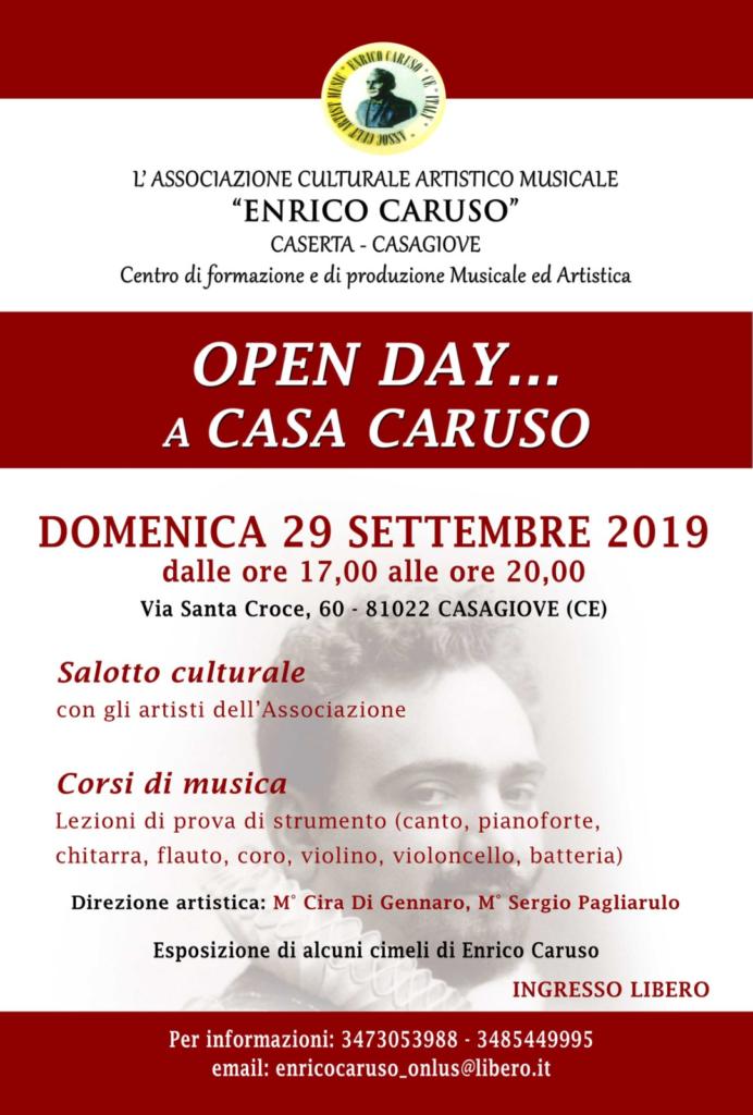 """Open Day Caruso 692x1024 CASAGIOVE, DOMENICA """"OPEN DAY A CASA CARUSO"""" PROMOSSO DALLASSOCIAZIONE DI CIRA DI GENNARO"""