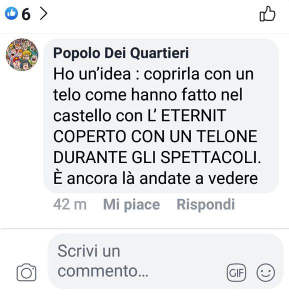 %name CLAMOROSO! SETTEMBRE AL BORGO TRA ETERNIT & CONCERTI: LA DENUNCIA SU FB DI UN GRUPPO DI CITTADINI