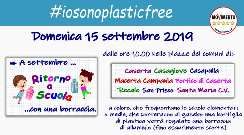 banner #IO SONO PLASTIC FREE: IL M5S  NELLE SCUOLE PER IL BARATTO VIRTUOSO